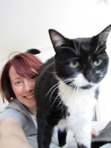 Lauren-Alice and her senior cat, Baby