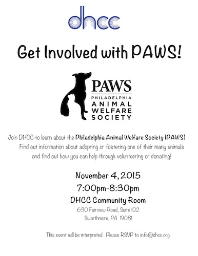 Get Involved with PAWS
